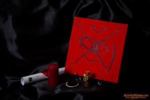 Rituale completo dell'Occhio di Marte con pergamena, incenso di Marte, candela consacrata, carboncino ed istruzioni.